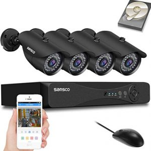Sansco CCTV Security Camera System with FHD 1080P DVR