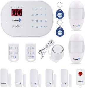 Compatible With Alexa -App Controlled Updated S03 Wi-Fi And Landline Security Alarm System Classic Kit Wireless DIY Home Security System By Fortress Security Store- Easy To Install